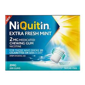 NiQuitin Extra Fresh Mint 2mg Medicated Chewing Gum 200 Gums