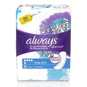 Always Discreet Incontinence Long Pads+ 8