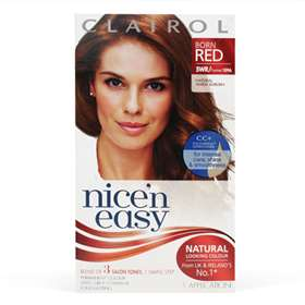 Clairol Nice'n Easy Permanent Natural Warm Auburn 5WR 1 Application