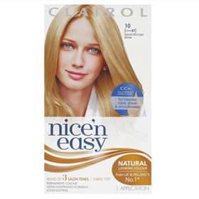 Clairol Nice'n Easy Permanent Natural Ultra Light Blonde 10 1 Application