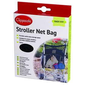 Clippasafe Stroller Net Bag - Black