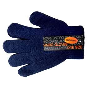 Children's Thermal Magic Gloves 1 Pair Navy Blue