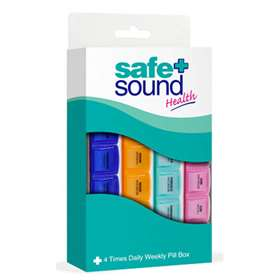 Safe+Sound 4 Times Daily Weekly Pill Box