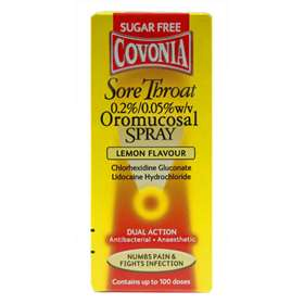 Covonia Dual Action Sore Throat Spray Lemon 30ml