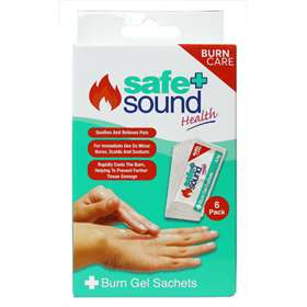 Safe and Sound Health Burn Gel Sachets 6 Pack