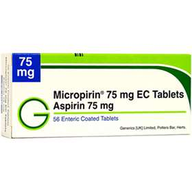 Aspirin Enteric Coated 75mg (56)