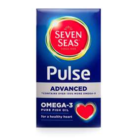 Seven seas pulse omega 3 fish oil capsules 60 for Omega fish oil advanced support