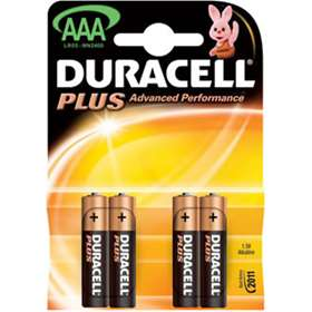 Duracell Plus AAA Batteries 4