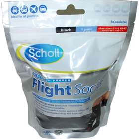 Scholl Flight Socks Black 6.5-9