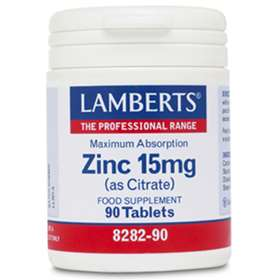 Lamberts Zinc 15mg As Citrate (90)