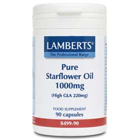 Lamberts Pure Starflower Oil 1000mg High GLA 220mg 90 capsules