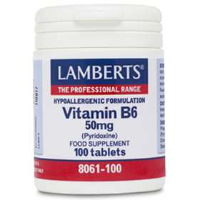 Lamberts Vitamin B6 50mg 100 tablets