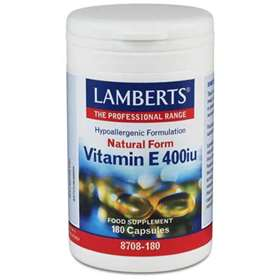 Lamberts Natural Form Vitamin E 400iu (268mg) 180 Capsules