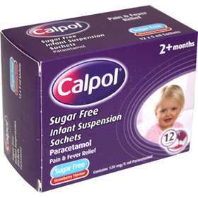 Calpol Infant Suspension Sachets 12 x 5ml sachets