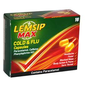 Lemsip Cold + Flu Max Strength Capsules (16)