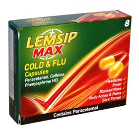 Lemsip Max Strength Cold & Flu Capsules 8