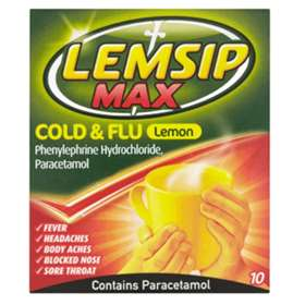 Lemsip Max Pharmacy strength Flu Lemon Sachets (10)