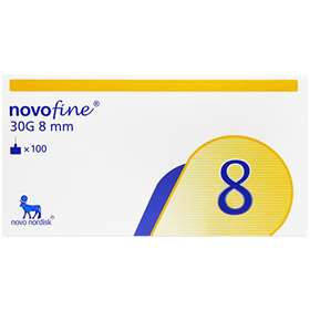 Novofine Needles 30G - 0.3 x 8mm (100)