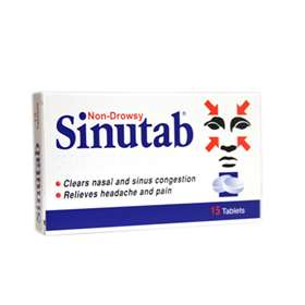 Non-Drowsy Sinutab Tablets (15)
