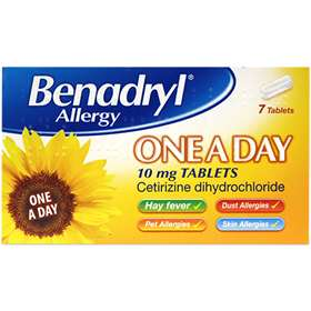 Benadryl Allergy One A Day 10mg Tablets 7