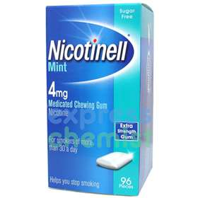 Nicotinell MINT Chewing Gum Strong 4mg 96 pieces