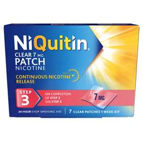 Niquitin CQ Clear Step 3 7mg 7 patches