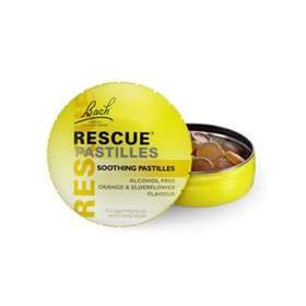 Bach Rescue Pastilles Orange & Elderflower 50g