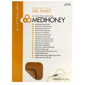 Medihoney Gel Sheet Dressing 10x10cm (single sheet)