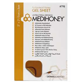 Medihoney Gel Sheet Dressing 5x5cm (single sheet)