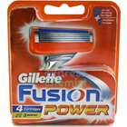Gillette Fusion Power Razor Heads x4