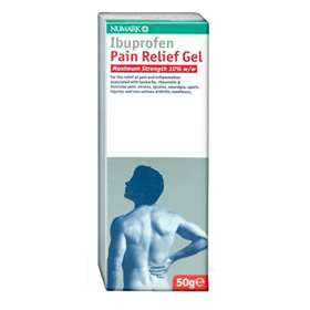 Ibuprofen Pain Relief Gel 10% 50g Maximum Strength