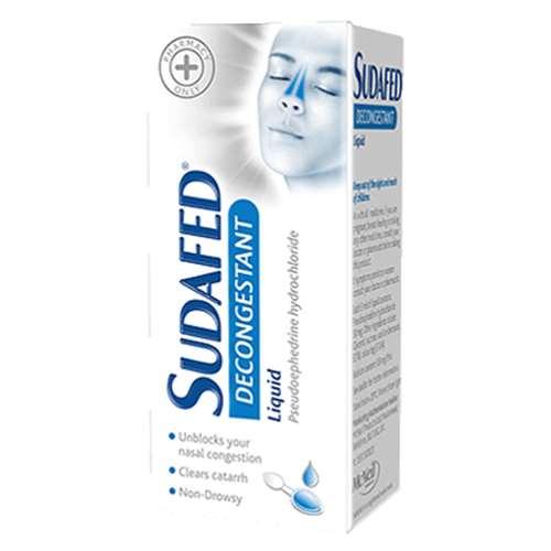 Sudafed Decongestant Liquid 100ml