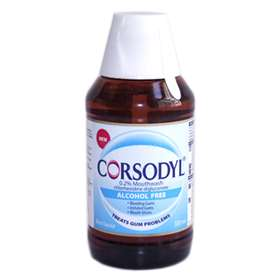 Corsodyl Alcohol Free Mint Flavour Mouthwash 300ml