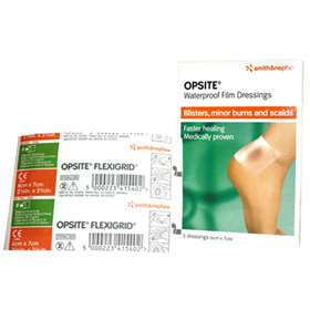 OpSite Waterproof Film Dressings for Blisters, Minor Burns and Scalds (6cm x 7cm) (5 Dressings)