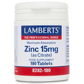 Lamberts Zinc 15mg as citrate 180