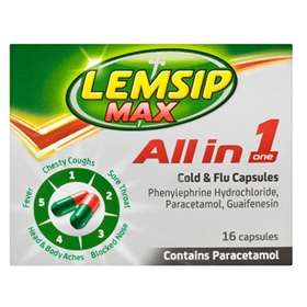 Lemsip Max All In One Cold & Flu Capsules (16)