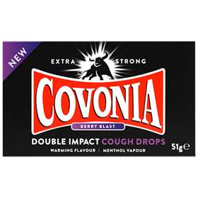 Covonia Berry Blast Double Impact Cough Drops 51g