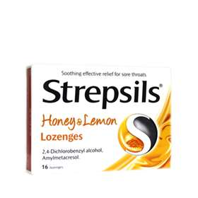 Strepsils Honey and Lemon Lozenges 16