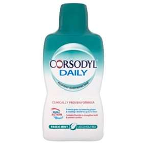 Corsodyl Daily Mouthwash Alcohol Free FRESH MINT  500ml