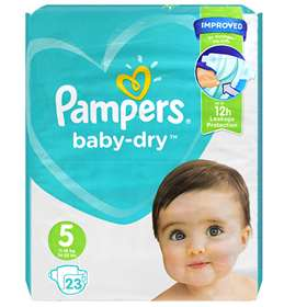 Pampers Baby-Dry Size 5 Junior 23