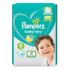 Pampers Baby Dry Nappies Extra Large Size 6 19