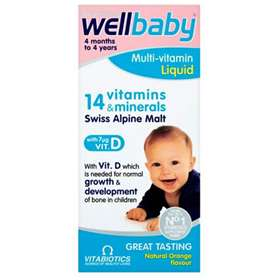 Vitabiotics Wellbaby Multi-Vitamin Liquid Orange 150ml