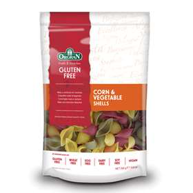 Orgran Gluten Free Corn and Vegetable Pasta Shells 250g