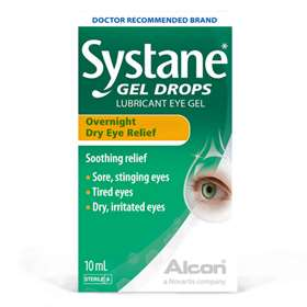 Systane Gel Drops Overnight Dry Eye Relief 10ml