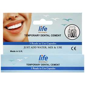 Dr Denti Temporary Dental Cement: 3 Capsules