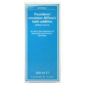 Dermal Psoriderm Emulsion 40% w/v Bath Additive 200ml