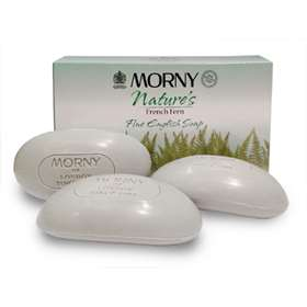 Morny Nature's French Fern Fine English Soap 3 x 100g