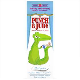 Punch and Judy Children's Toothpaste Strawberry 0-2 Years 50ml