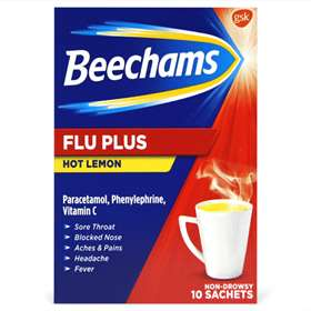 Beechams Flu Plus Hot Lemon 10 Sachets