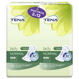 Tena Lady Duo Pack Normal Pads 2x12
